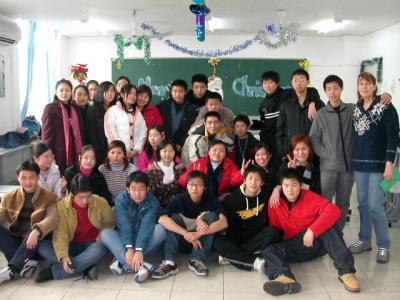 Kath D 12/25-03 far right- teaching in China