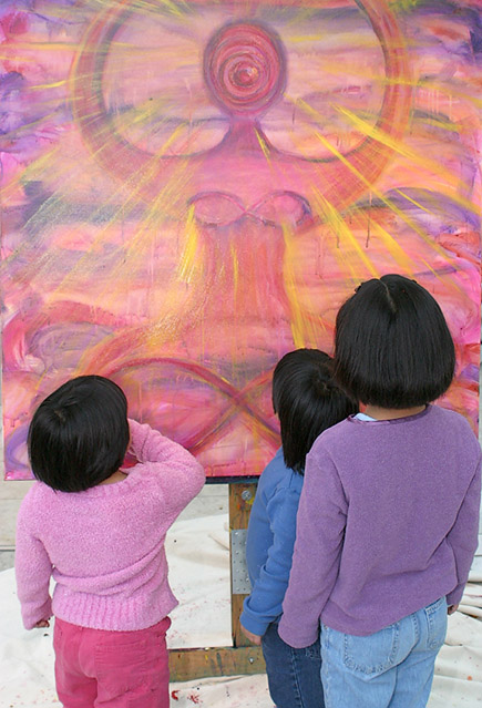 Children with painting