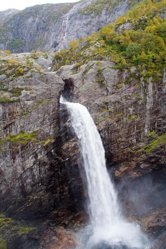 The waterfalls at månafossen