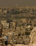 Rebuilding history, rooftop of Citadel, Aleppo