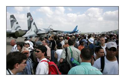 Le Bourget 2005 - La foule