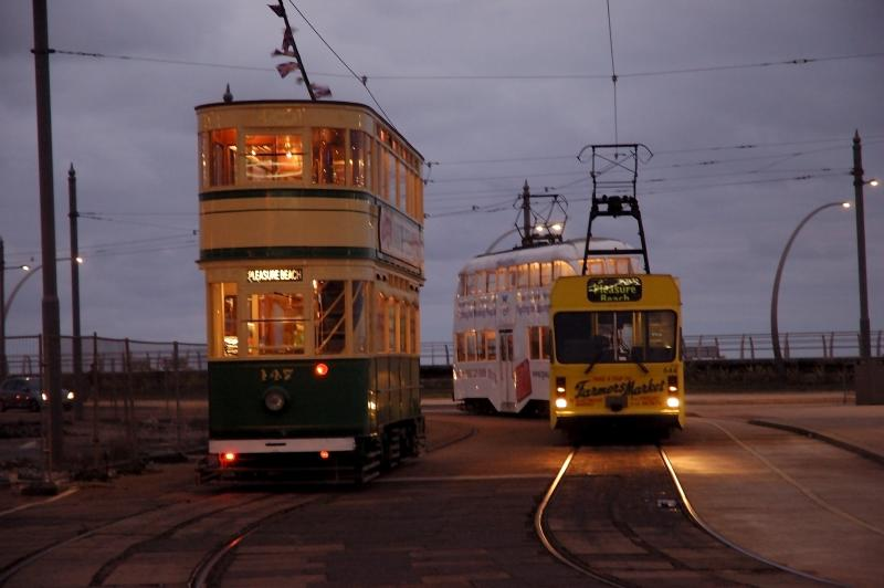 Blackpool Trams with Lights