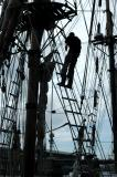 Man up a Tall Ship Mast