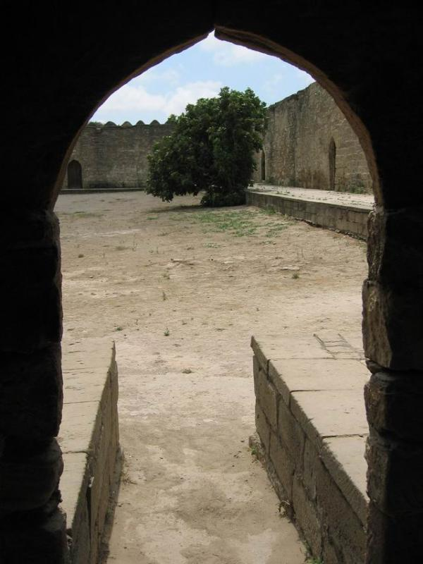 From within a chamber at Ateshgah.