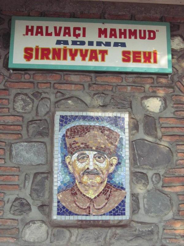 A halwa shop in Sheki.