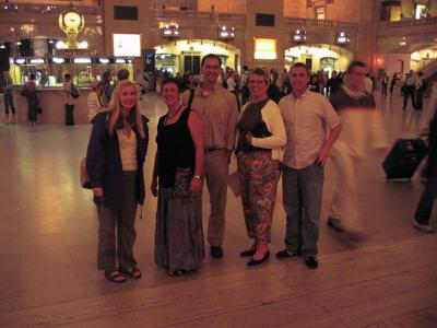 Anita, Margie, Mark, Jan and Christopher in Grand Central Station, NYC.