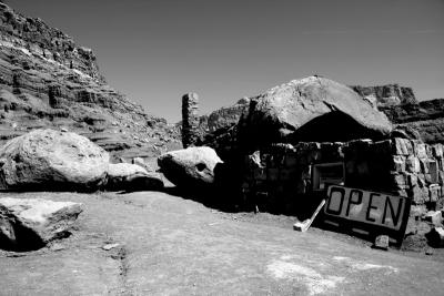 Navajo Rock House Shop black and white.jpg