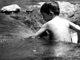 Sedona Danny in Oak Creek Arm in Flow black and white.jpg
