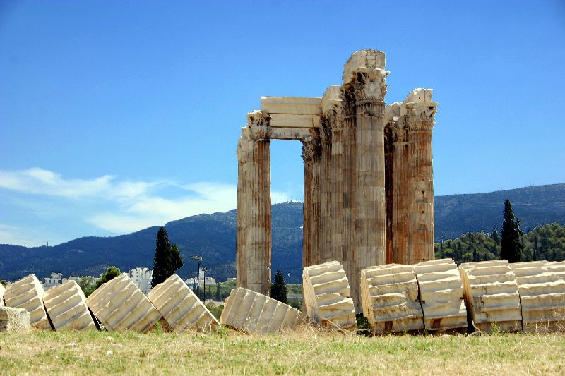 Some stand, some fallen, Temple of Zeus, Athens