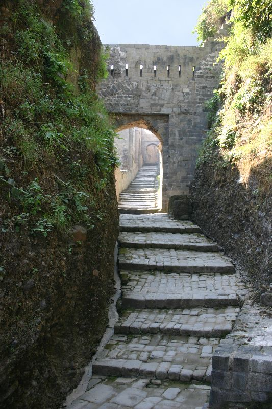 The steep climb, Kangra Fort, Himachal Pradesh