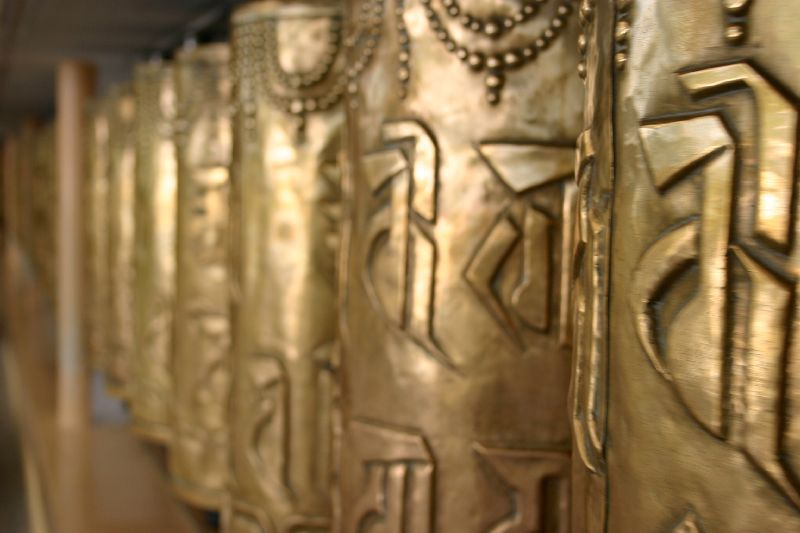 Prayer wheels, Mcleod Ganj