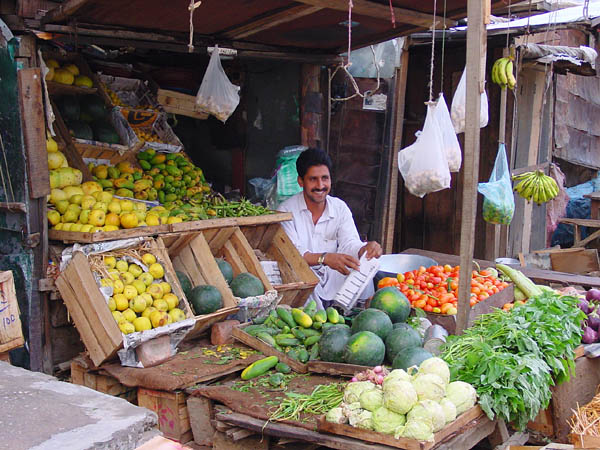 Fruit vendor in Sehnsa