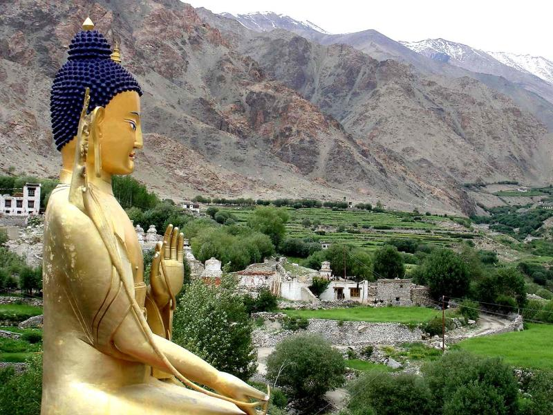 Very large Buddha, at a monastery about 2 hours from Leh