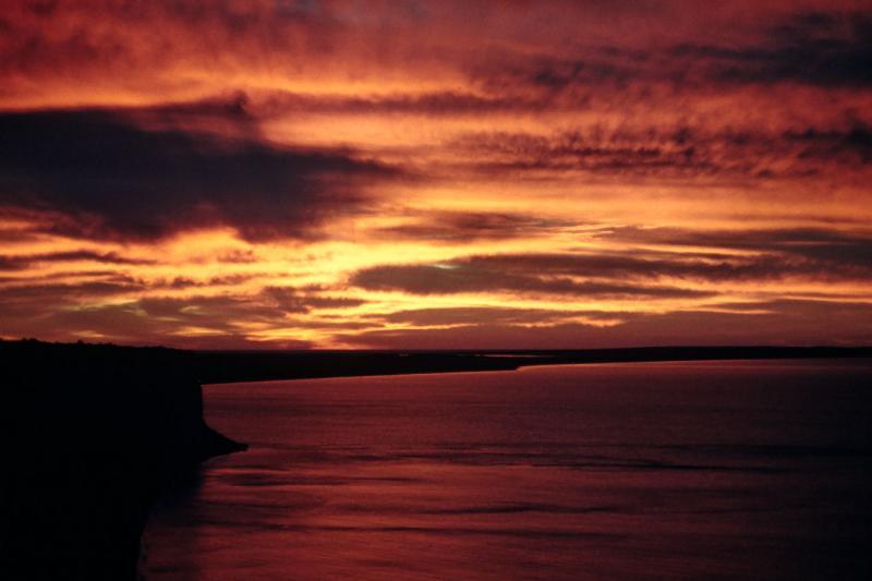 1961 Cyprus  - Sunrise over Akrotiri