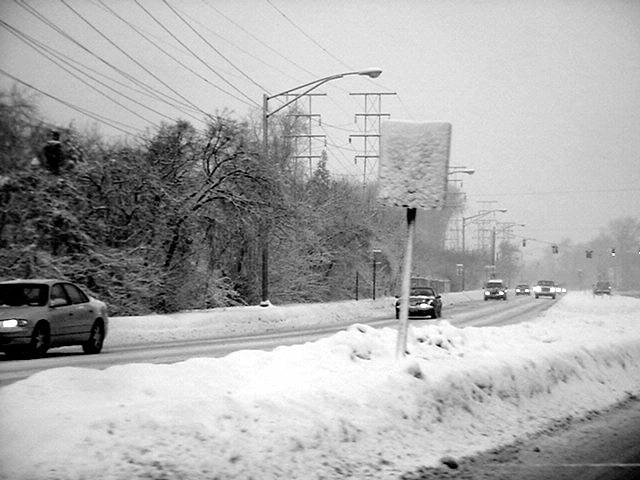 twin city highway all snowy