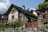 Stone houses in Ticino (Switzerland)