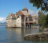 Castle Chillon at lac Leman
