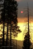 Smoke Obscures Sunset #1