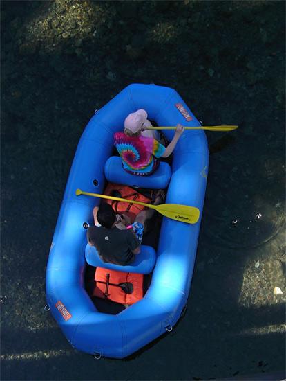 Raft from the Bridge
