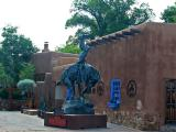 Horse & Indian Statue