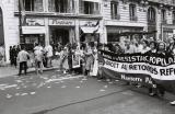 Palestinian anti-Sharon protest; Rue de l'Opéra