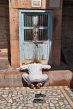 Praying before a Hidden Shrine, Sachiya Mata Temple