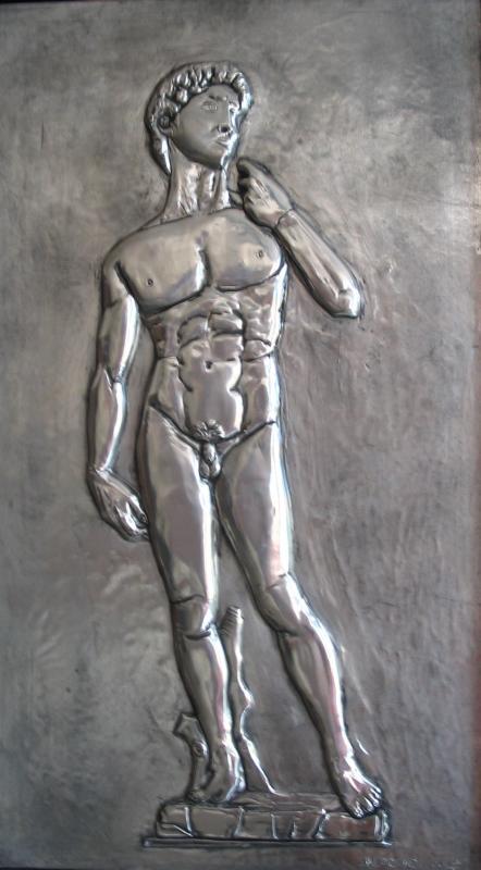 David Michelangelo, replica, tin 46 x 26.5cm