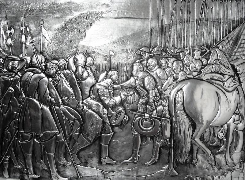 The Surrender of Breda Velasquez, replica, aluminum 82x60cm