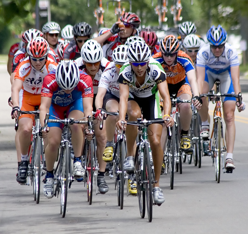 A race of cyclists