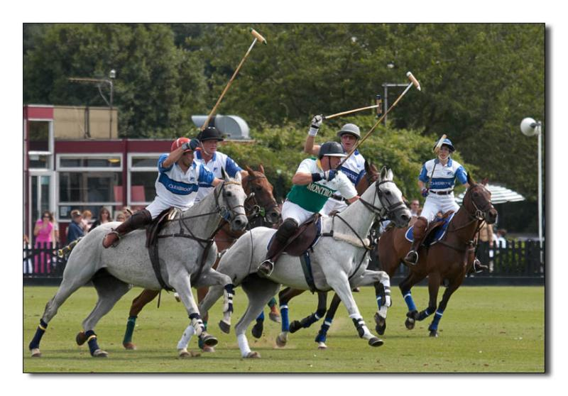 A Possee of Polo Players