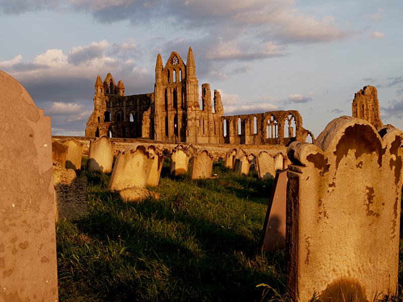 Gravestones and Whitby Abbey I