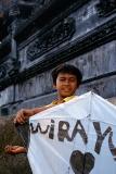 Besakih temple #3, boy with his kite
