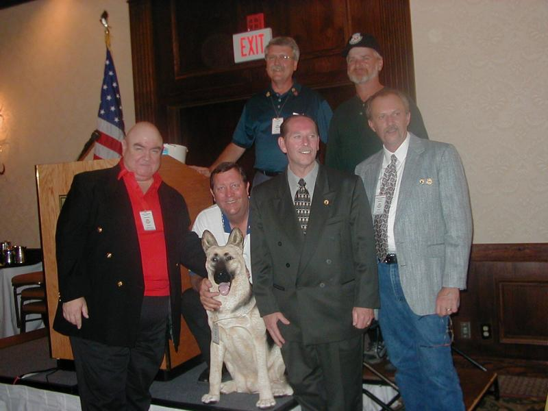 Banquet - Top, Mike Monger & Mike Potter (Ubon). Bottom John ODonnel, Bill Cummings & Duke, Fred Cobb, & Bernie Turnbloom