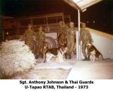 Sgt Anthony Johnson & Thai Guards 1973