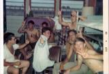 L to R Kruszczynski, Sgt Mac, Oscar Over standing, Steinmasel in white shirt, Jim Leko & Cox