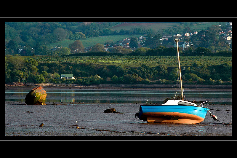 Boats on the River Teign, Devon