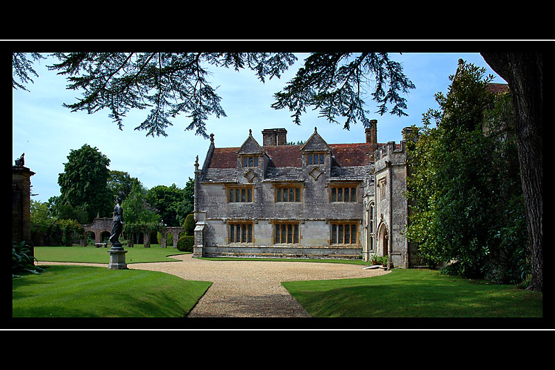 Front entrance from the side, Athelhampton House, Puddletown, Dorset