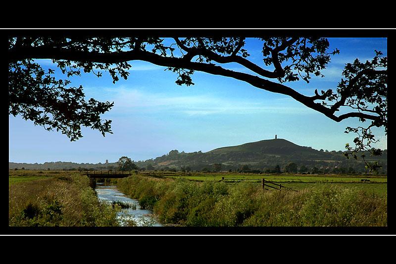 Across the fields to Glastonbury Tor, Somerset