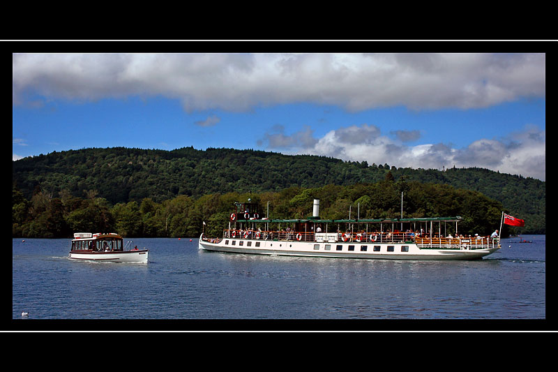 Two boats, Bowness, Lake Windermere, Cumbria