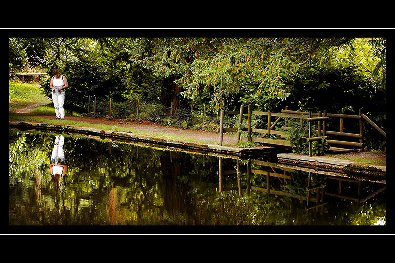 Carole at Hestercombe Gardens, Taunton, Somerset