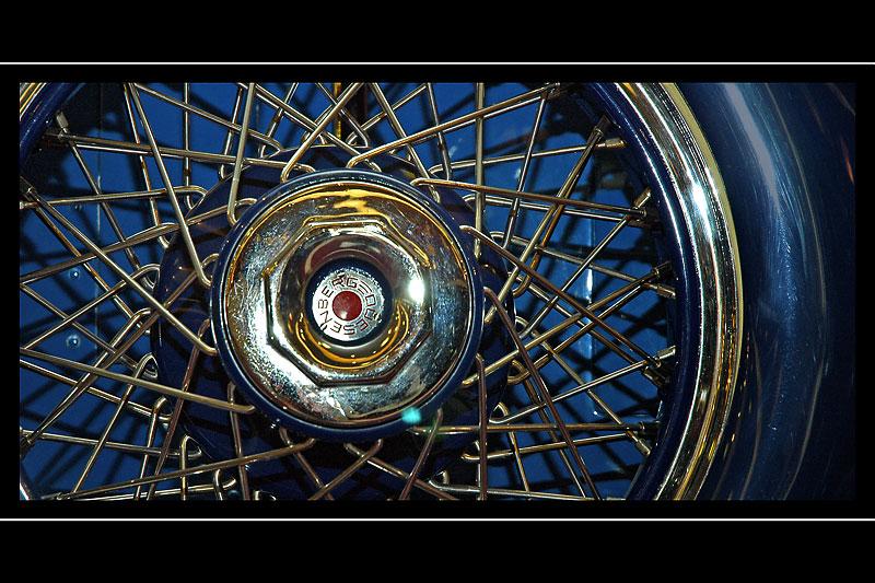 Duesenberg wheel, Haynes Motor Museum, Sparkford, Somerset (1500)