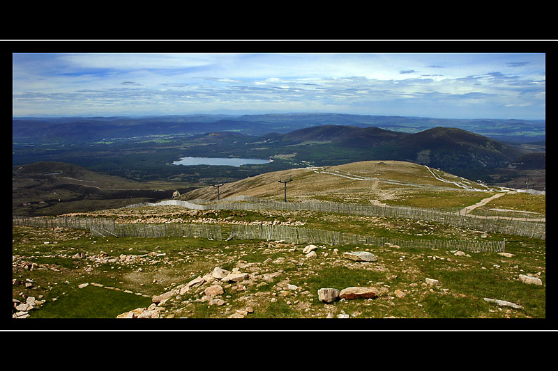 View from the top of Cairn Gorm, Cairngorms, Scotland