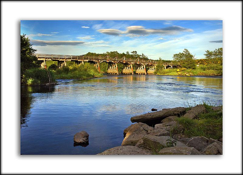 Wooden bridge near Broomhill, Invernesshire, Scotland