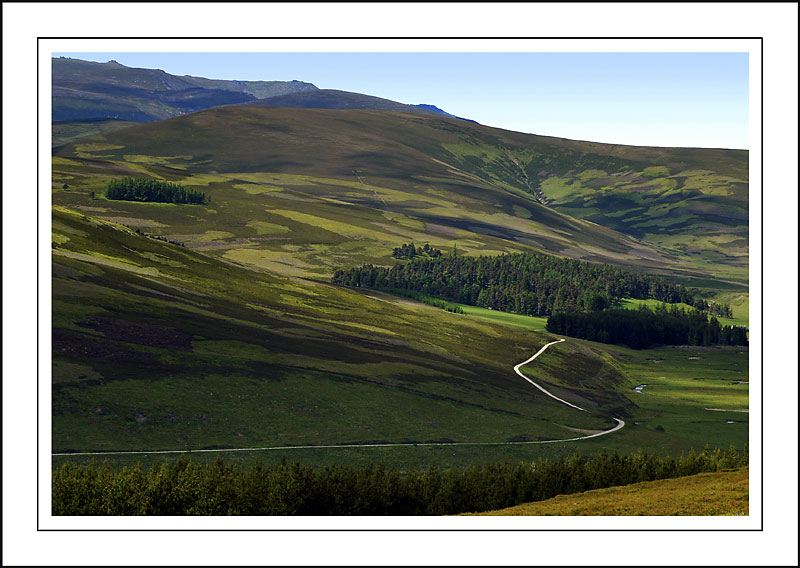 The long and winding road, Cairngorms, Scotland