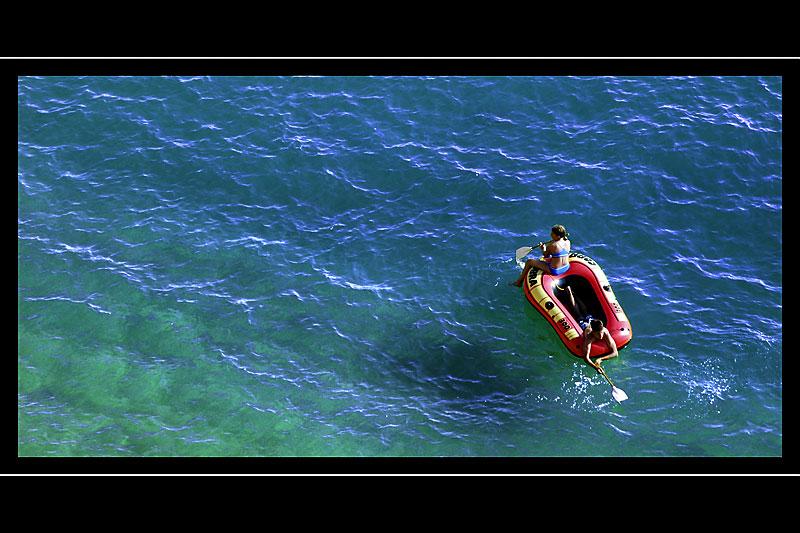 Boating, Hive Beach, West Dorset