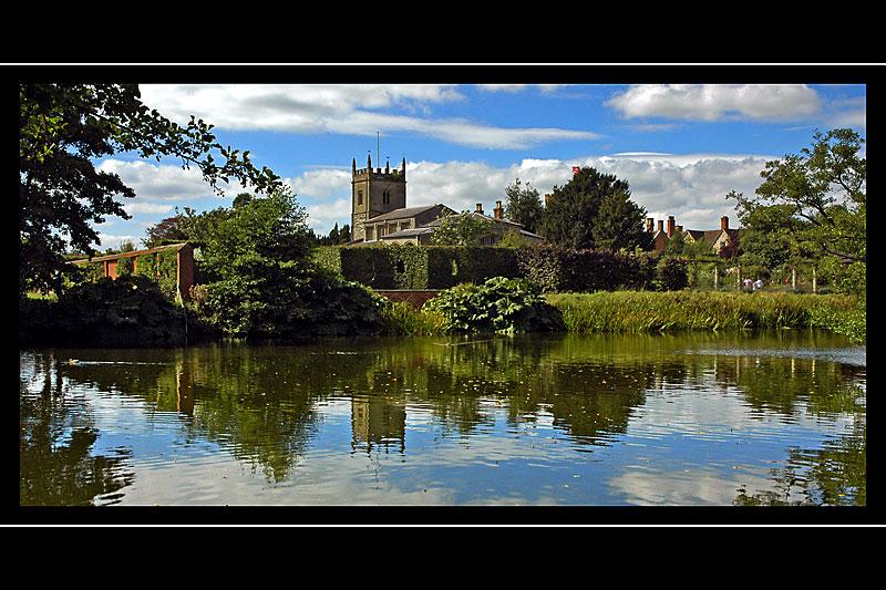 The lake, Coughton Court, Warwickshire