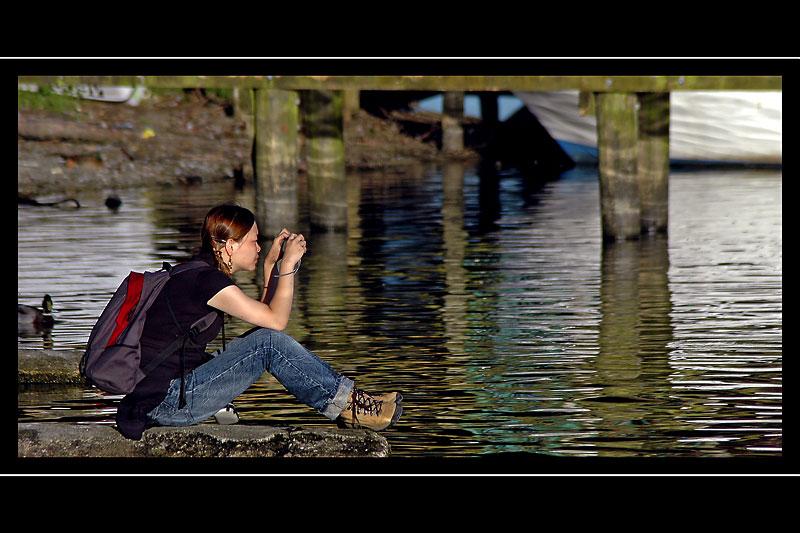 Taking pictures, Ambleside, Cumbria