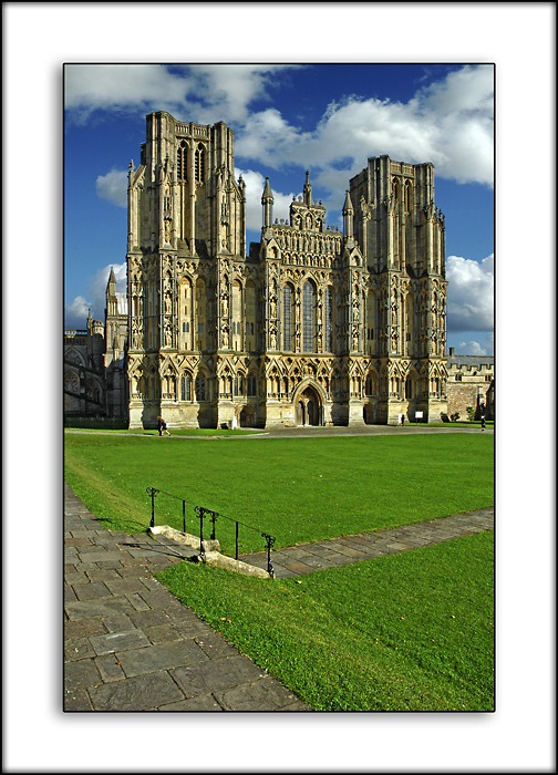 Cathedral and green, Wells Cathedral