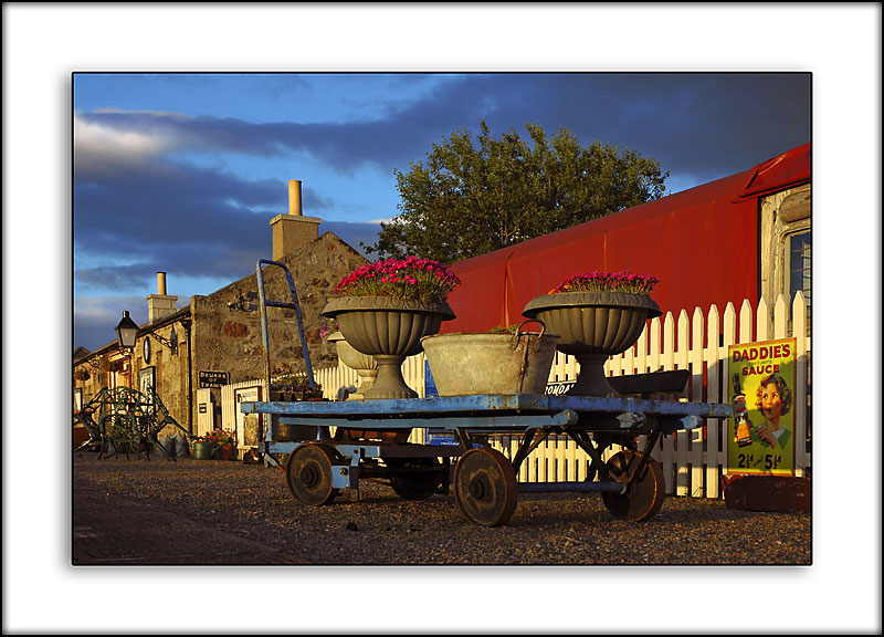 Station trolley, Cromdale, Morayshire, Scotland
