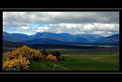 Blue mountains, Cairngorms, Scotland